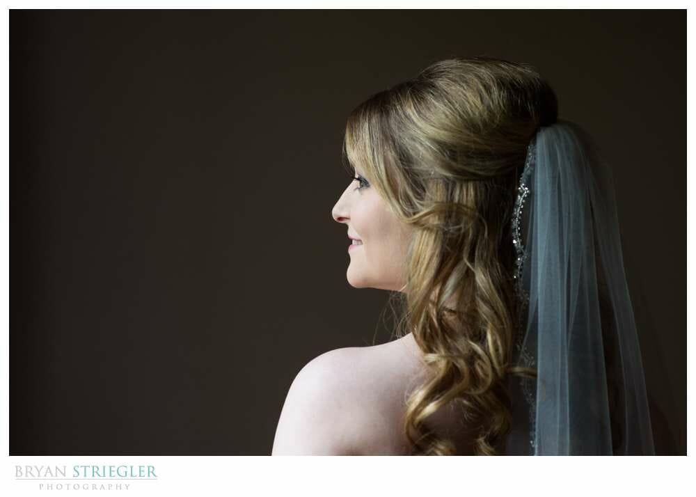 Fayetteville Bridal Portraits profile shot
