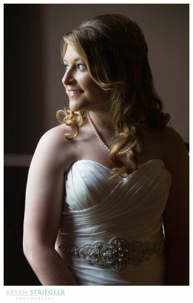 Fayetteville Bridal Portraits looking out window