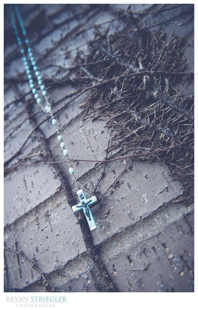 Fayetteville Wedding Photographer rosary hanging