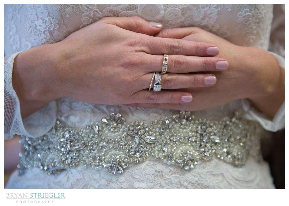 Fayetteville Wedding Photographer dress detail