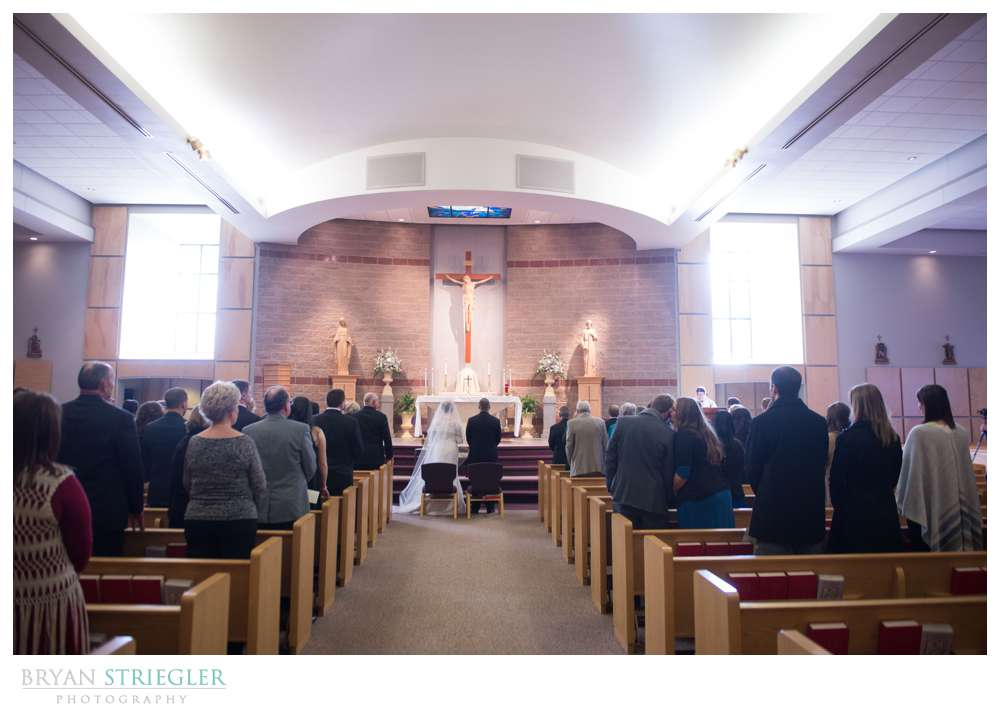 Fayetteville Wedding Photographer ceremony wide shot