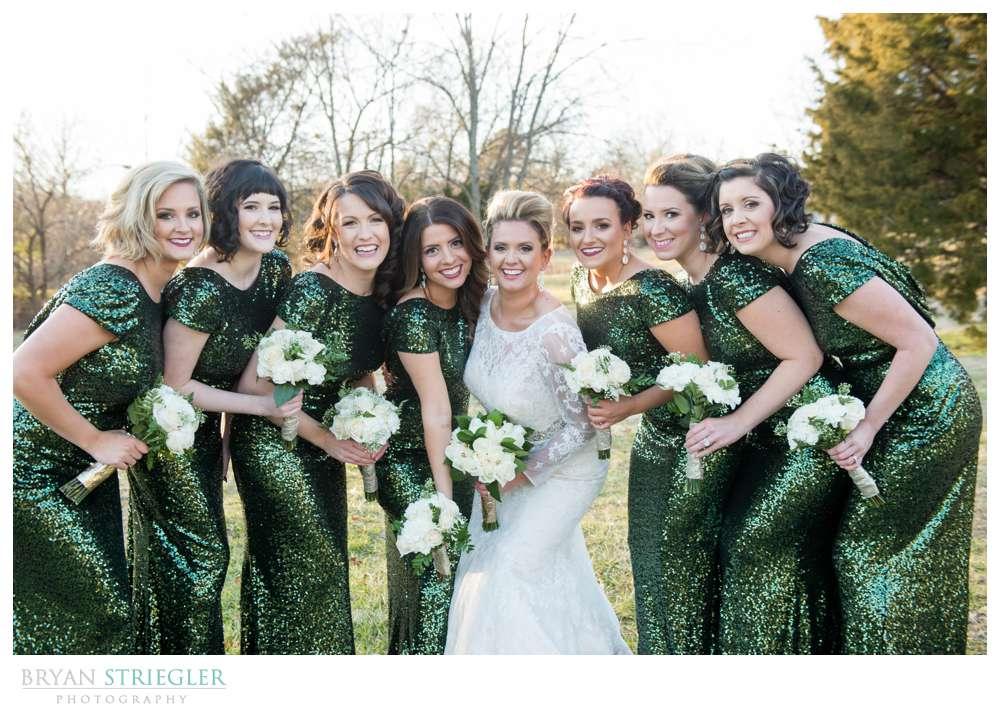 Fayetteville Wedding Photographer bridesmaids together