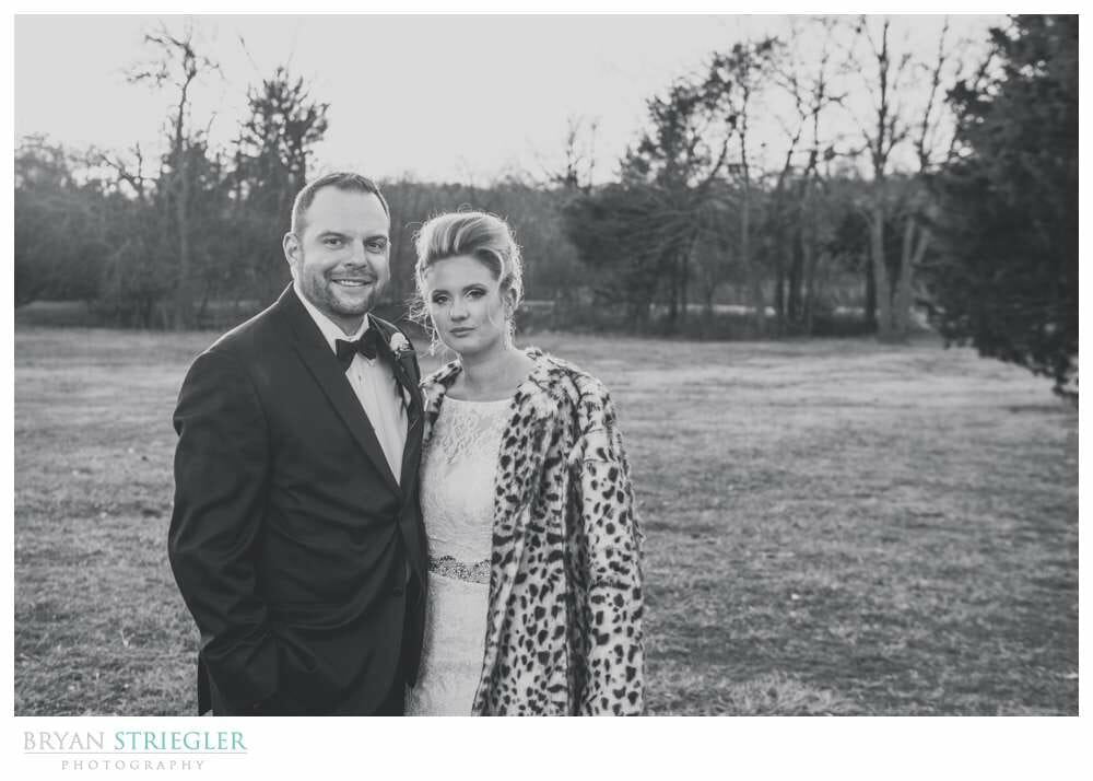Fayetteville Wedding Photographer bride and groom black and white