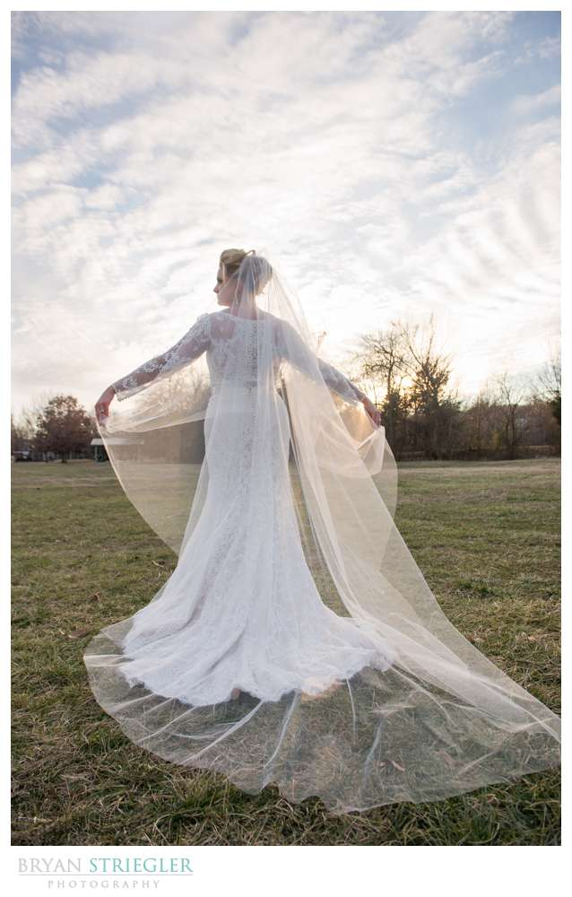 Fayetteville Wedding Photographer back of the dress