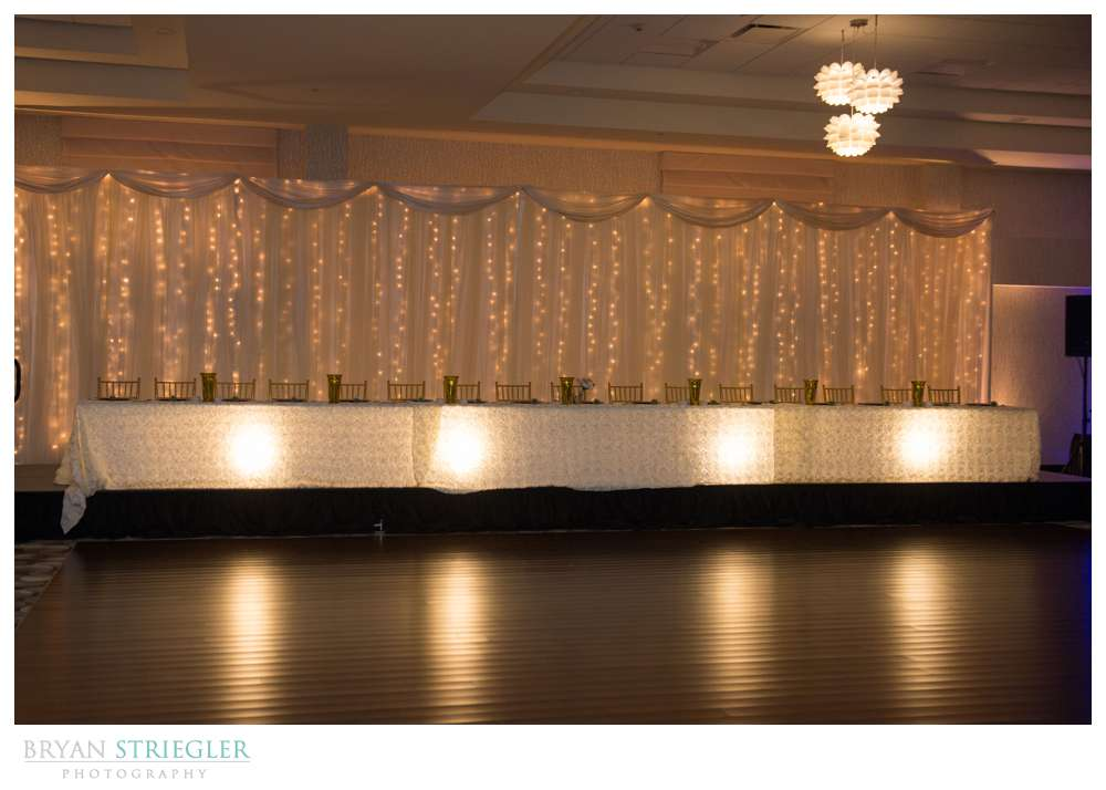 Fayetteville Wedding Photographer head table