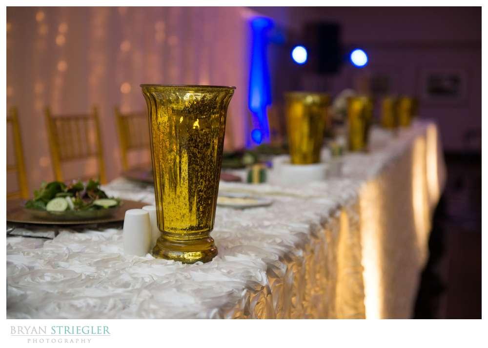 Fayetteville Wedding Photographer table details