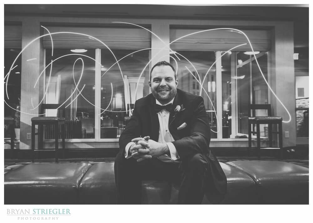 Fayetteville Wedding Photographer groom portrait long exposure