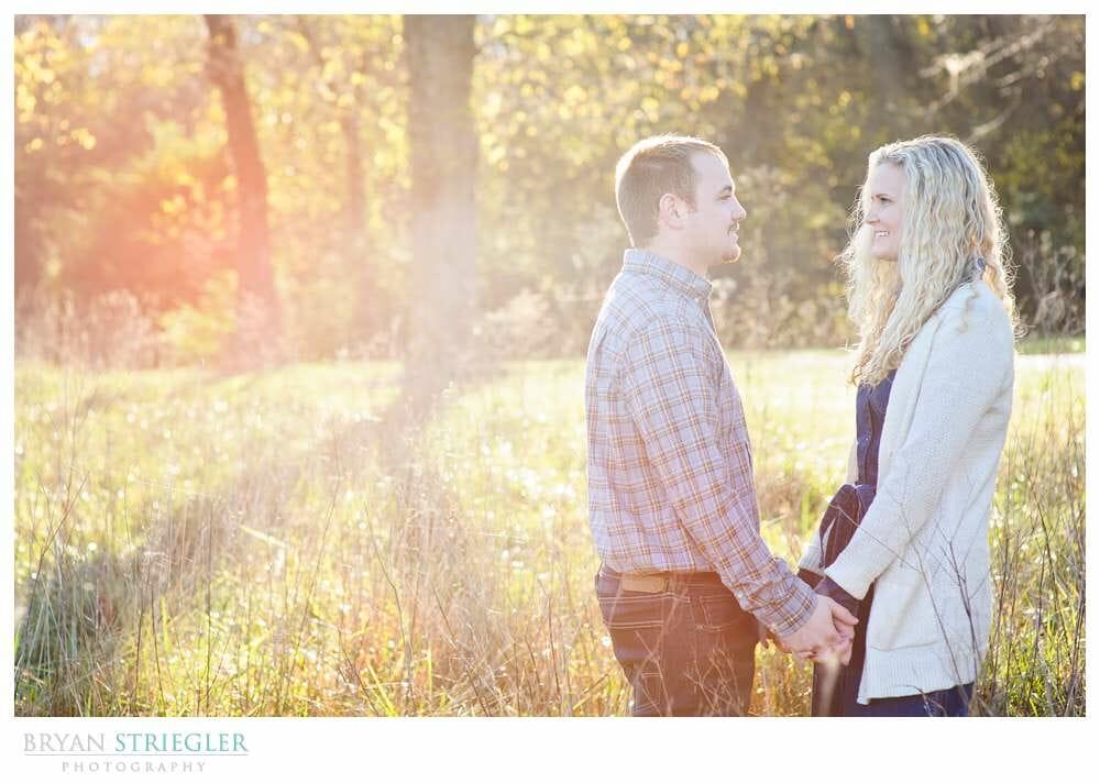 Shooting Winter Engagement Photos backlit