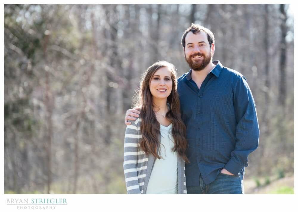 Unique Engagement Photos smiling