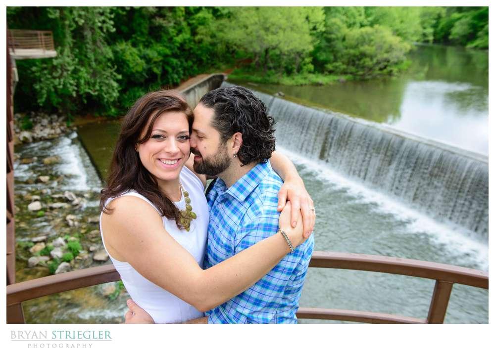 Arkansas Crossfit Engagement Photos waterfall