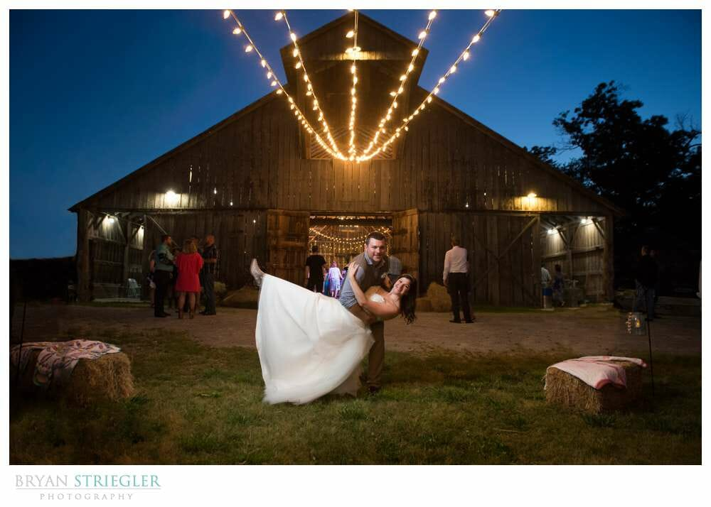 I'm a Full Time Photographer Dip in front of Lights and Barn