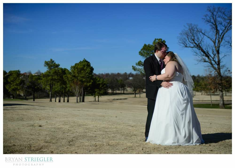 Linda and Chuck's Springdale Country Club Wedding portrait on golf course