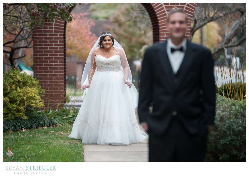 4 Reasons to Have a First Look bride walking up