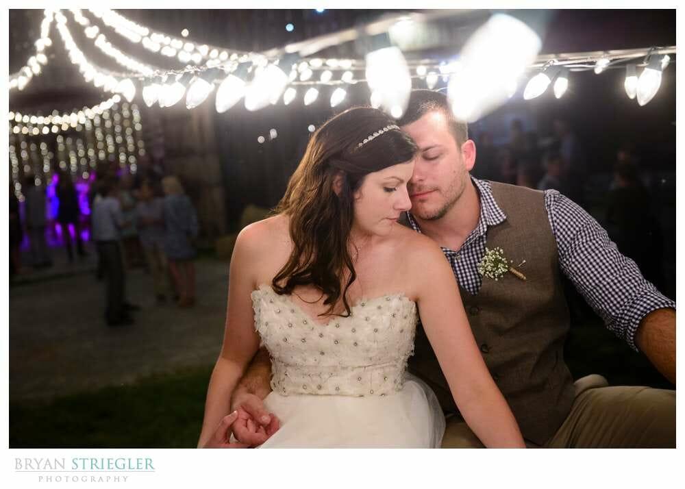 Choosing a wedding venue under Christmas lights