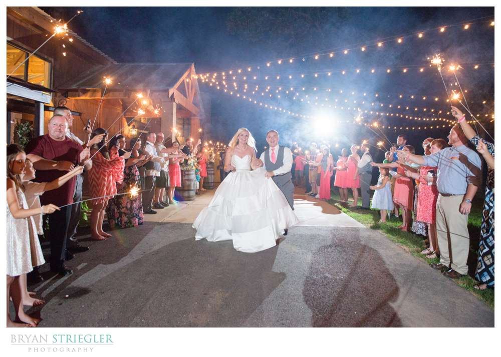 Choosing a wedding venue sparkler exit
