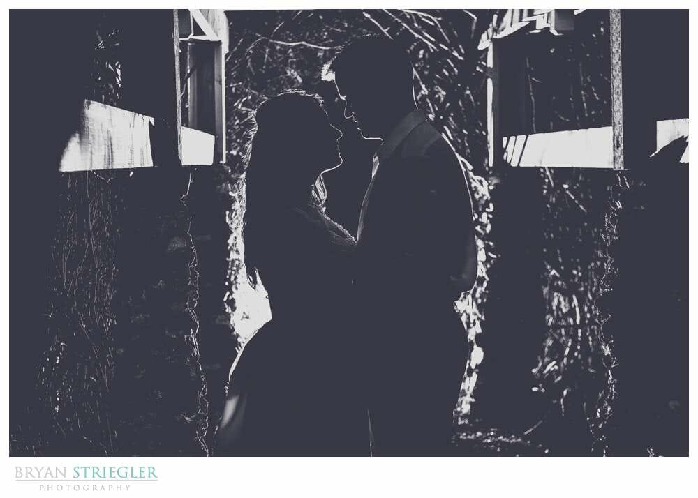 black and white creative wedding portrait