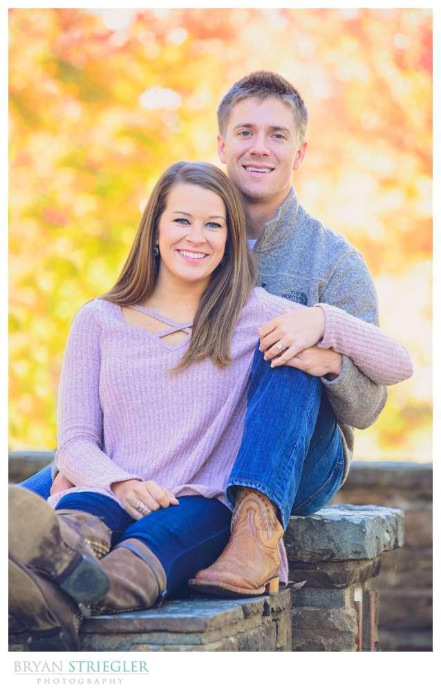 Engagement photo at Prairie Grove