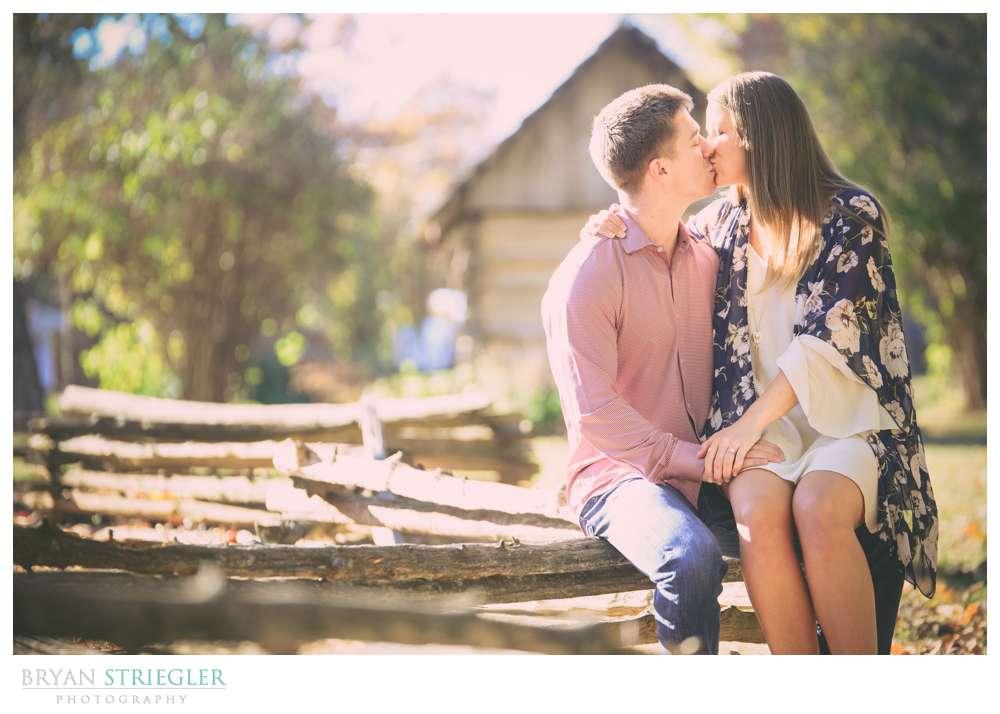 Seated engagement photo