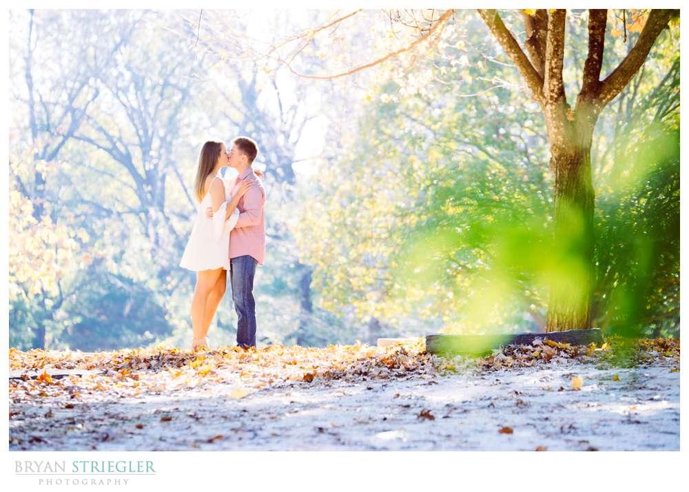 engagement photo with beautiful background