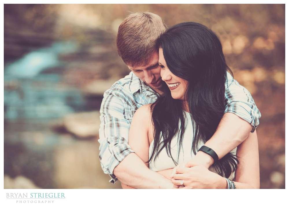 hugging and laughing at Tanyard Creek
