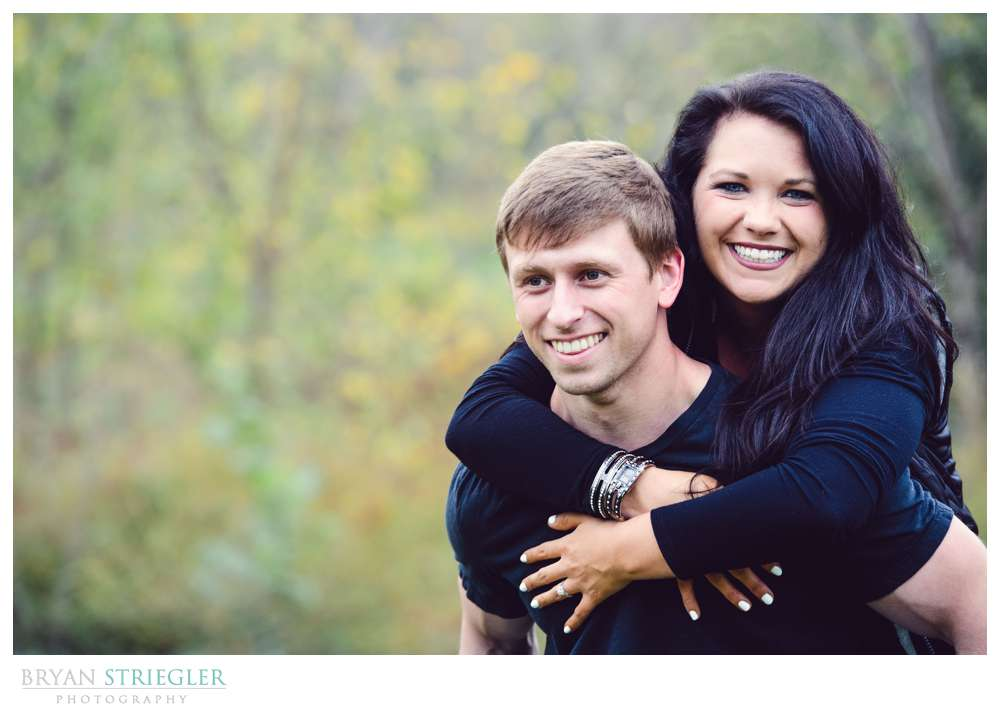 Rogers engagement photo on his back