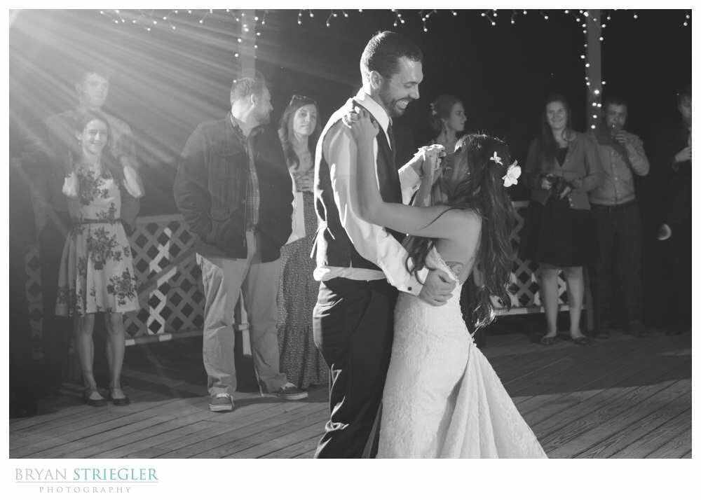 First dance at Magnolia Gardens in Springdale