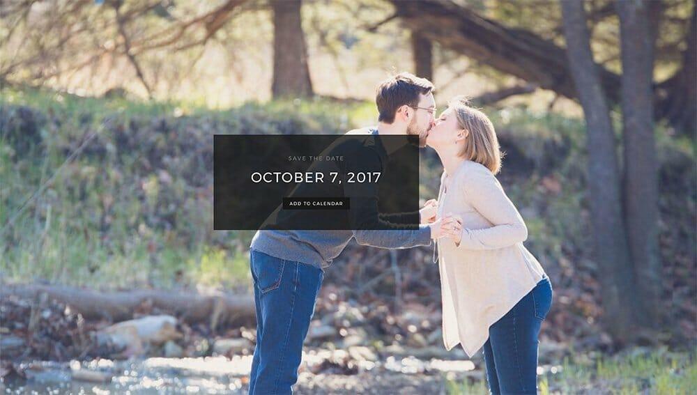 wedding website that ads date to calendar