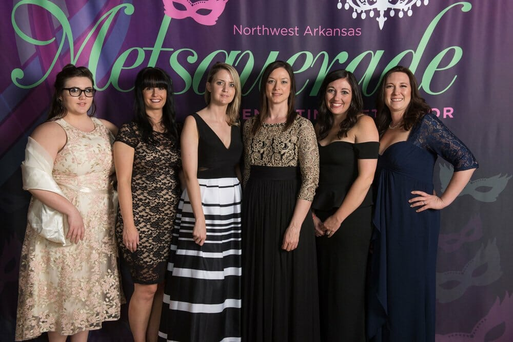 Group of ladies that attended the 2017 Metsquerade benefiting Metavivor