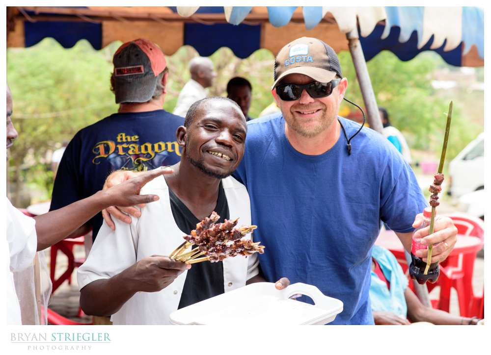 eating goat in Rwanda