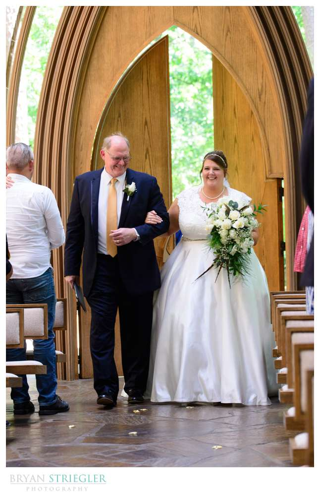 down the aisle at Mildred B. Cooper