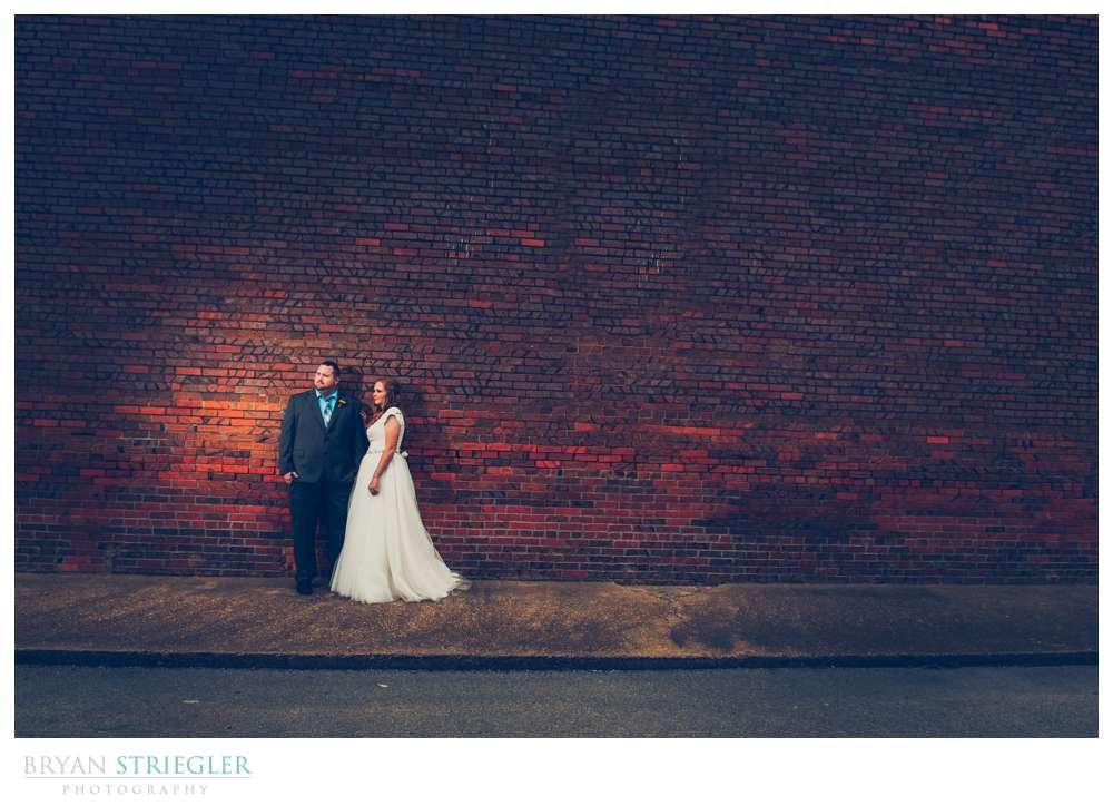 old brick wall for wedding portrait