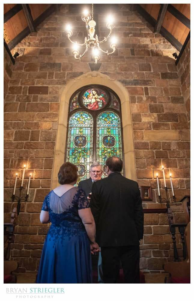 small wedding ceremony at st. catherine's at bell gable