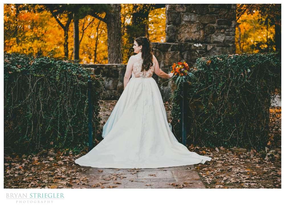 bride posing from behind