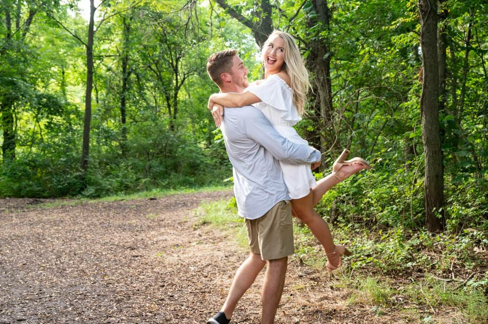 engagement session at Hartman Park in Lee's Summit