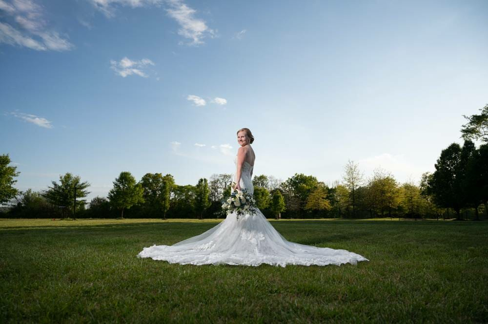 bridal session at Matt Lane Farm