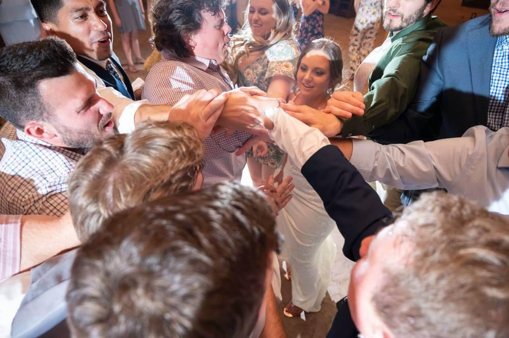 bride inside dance circle