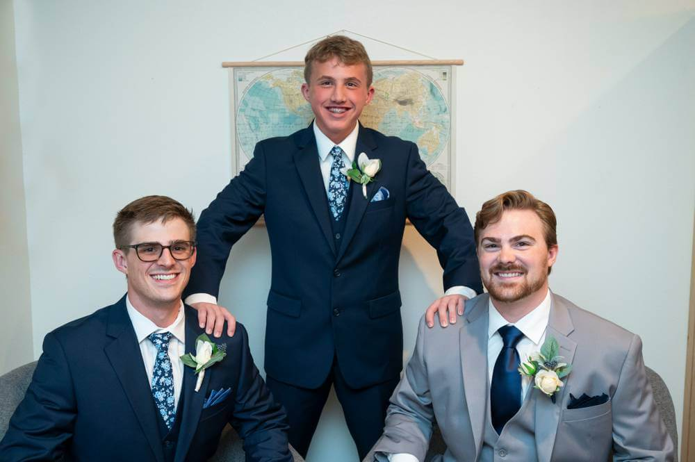 groom with brothers and bestman